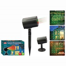 4 Units of Laser Projector Green Red Laser Kaleidosocope - Christmas Decorations