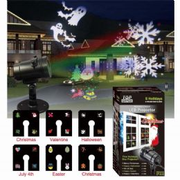 12 Units of Laser Light Projector Replaceable Pattern - Christmas Decorations