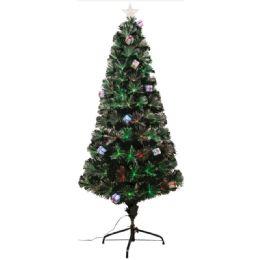 6 Units of Three Foot Xmas Optical Fiber Tree - Christmas Ornament