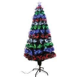 4 Units of Five Foot Xmas Optical Fiber Tree - Christmas Ornament