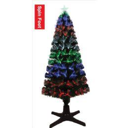 4 Units of Five Foot Xmas Optical Fiber Tree Spin Foot - Christmas Ornament