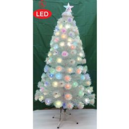 2 Units of Five Foot Xmas Optical Fiber Tree In White - Christmas Ornament