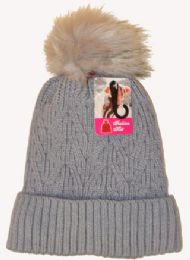 36 Units of Ski Hat With Pom Pom And Lining - Winter Beanie Hats
