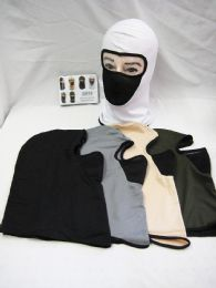 48 Units of Winter Warm Polyester Winter White Ski Mask - Unisex Ski Masks