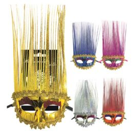 120 Units of Long Hair Masquerade mask - Costumes & Accessories