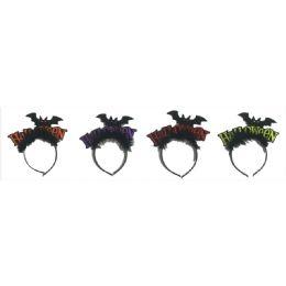120 Units of Halloween Bat Headband - Costumes & Accessories