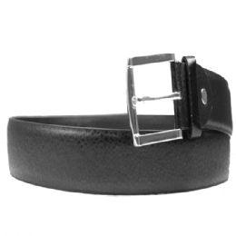 36 Units of Mens Belt In Black Pebbled - Mens Belts