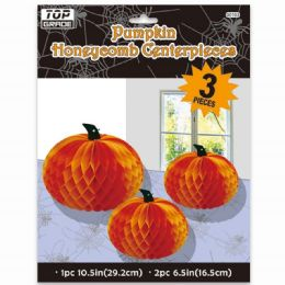 72 Units of Three Piece Honeycomb Centerpiece - Halloween & Thanksgiving