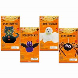 96 Units of Halloween Pompom Kit - Halloween & Thanksgiving