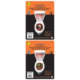 216 Units of Two Piece Printed Toilet Decoration - Halloween & Thanksgiving