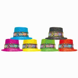 144 Units of Happy New Year Top Hat - New Years