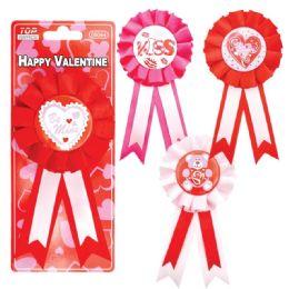 96 Units of Valentine Ribbons - Valentine Decorations