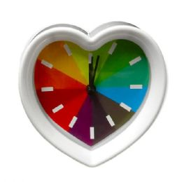 6 Units of Rainbow heart Design Clock - Clocks & Timers