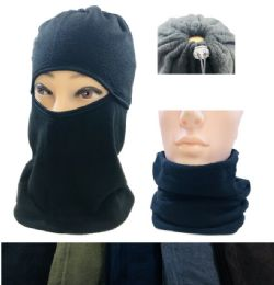 24 Units of Fleece Multipurpose Face/Neck Warmer - Unisex Ski Masks