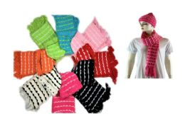 72 Units of Cozy Scarf + Hat Set With Knitted Design - Womens Camisoles & Tank Tops
