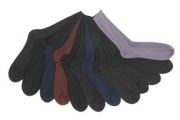 12 Units of Mens Ribbed Solid Color Dress Socks - Mens Dress Sock