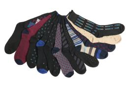 60 Units of Mens Elegant Patterned Dress Socks - Mens Dress Sock