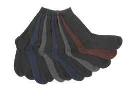 12 Units of Mens Solid Color Dress Socks - Mens Dress Sock