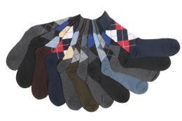 12 Units of Mens Classic Argyle Dress Socks - Mens Dress Sock