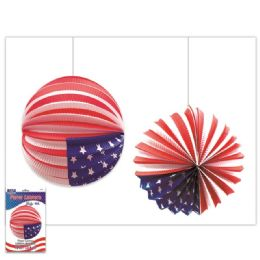 120 Units of America Usa Flag Lantern - 4th Of July