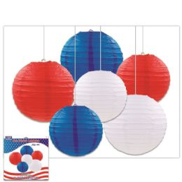 24 Units of July Fourth Lantern Set - 4th Of July