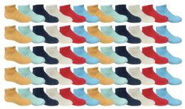 60 Units of Yacht & Smith Kids Solid Colored Fuzzy Socks , Sock Size 4-6 - Girls Crew Socks
