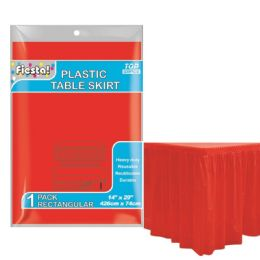 72 Units of Table Skirt Red - Party Paper Goods