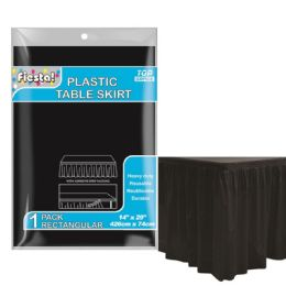 72 Units of Table Skirt Black - Party Paper Goods