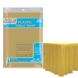 72 Units of Table Skirt Gold - Party Paper Goods
