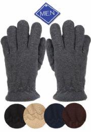 24 Units of MEN'S THERMAL FLEECE GLOVE - Fleece Gloves
