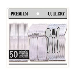 96 Units of Fifty Count Premium Clear Cutlery - Disposable Cutlery