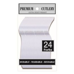 96 Units of Twenty Four Count Premium Clear Forks - Disposable Cutlery
