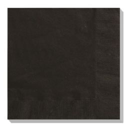144 Units of Luncheon Napkin Black - Party Paper Goods
