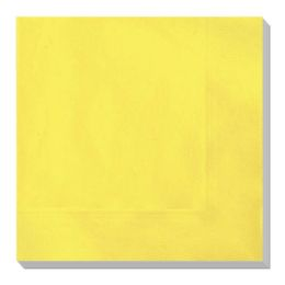 144 Units of Luncheon Napkin Yellow Twenty Count - Party Paper Goods