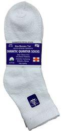 6 Units of Yacht & Smith Women's Diabetic Cotton Ankle Socks Soft NoN-Binding Comfort Socks Size 9-11 White - Diabetic Socks
