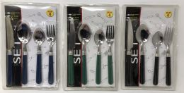 72 Units of Plastic And Metal 4-Piece Cutlery Set - Kitchen Utensils