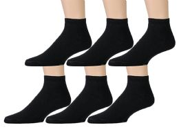 6 Units of Yacht & Smith Kids Cotton Quarter Ankle Socks In Black Size 4-6 - Boys Ankle Sock