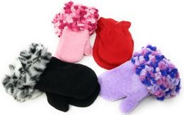 72 Units of Colorful Infant & Toddler Assorted Mittens - Kids Winter Gloves