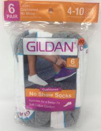 30 Units of White Gildan Men's Low Cut Cushioned Socks 6-Pack - Mens Ankle Sock