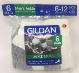 30 Units of 6 Pairs Men's Gildan Ankle Socks - Mens Ankle Sock