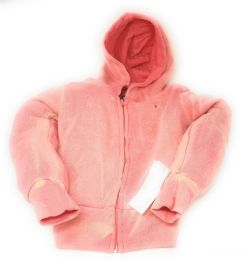 48 Units of Girl's Coral Full Zipper Hoodie - Girls Apparel