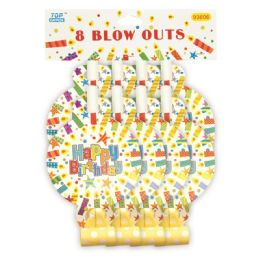 144 Units of Birthday Blow Out Eight Count - Party Favors