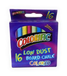 48 Units of Low Dust Kids Colored Packaged Chalk - School Supplies