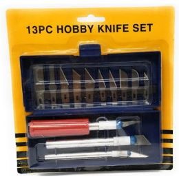 72 Units of 13pcs Assorted Standard Hobby Knife Set - Tool Sets