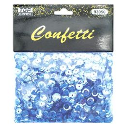 144 Units of Sequins Pastel Blue - Craft Glue & Glitter