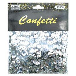 144 Units of Sequins Silver - Craft Glue & Glitter