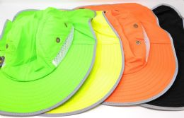 36 Units of Assorted Colors Reflective Fishing Hat - Fishing Accessories