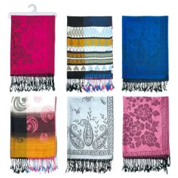 72 Units of Ladies Winter Printed Scarf - Winter Scarves