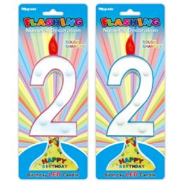 144 Units of Number Two Led Candle - Birthday Candles