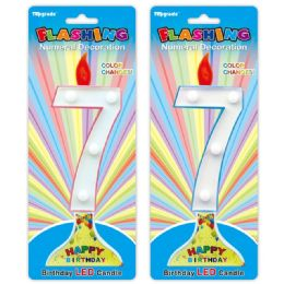 96 Units of Number Seven Led Candle - Birthday Candles